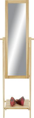 Stoječe Ogledalo Olivia - naravna, Moderno, steklo/leseni material (52/174/48cm) - Mömax modern living