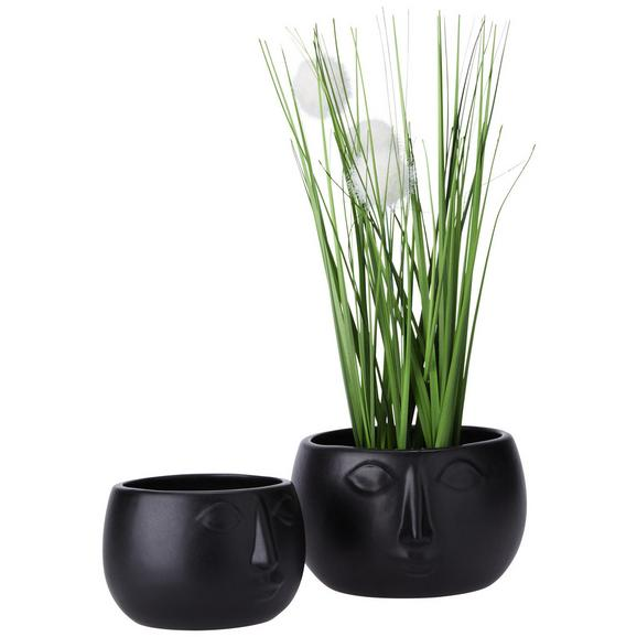 Cvetlični Lonček Smila - črna, keramika (13,2/12cm) - Mömax modern living