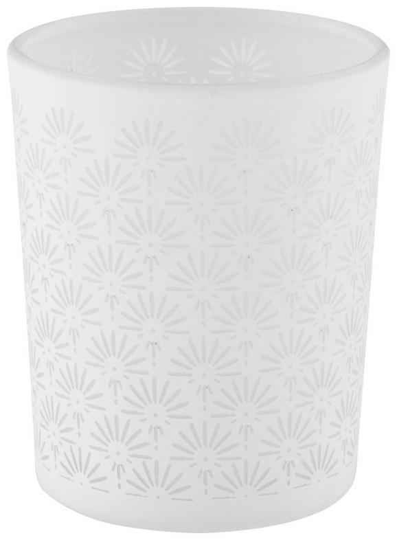 Teelichthalter Hope Weiß - Weiß, MODERN, Glas (6cm)