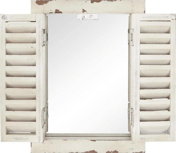 Ogledalo Toskana   -sb- - bela, steklo/leseni material (26/35,3/3cm)