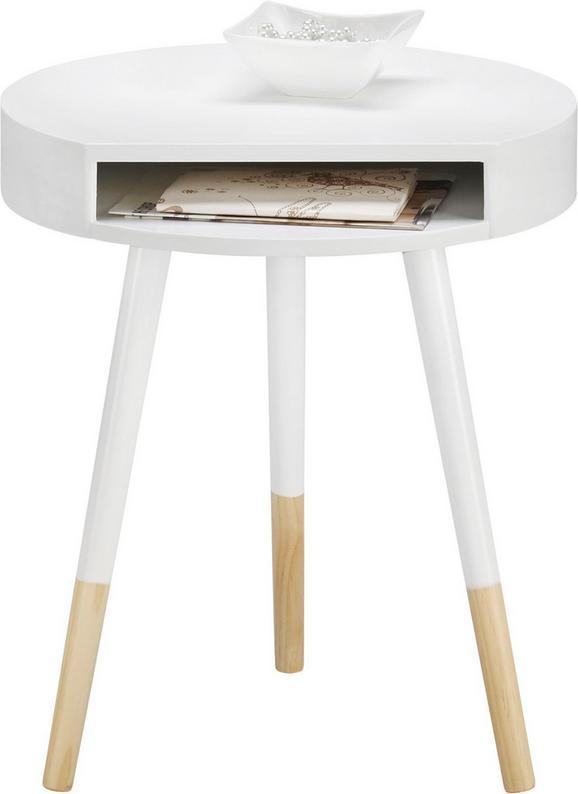Beistelltisch Regine Ø40cm - Braun/Weiß, MODERN, Holz (40/47cm) - MÖMAX modern living