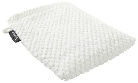 Waschhandschuh Julianne Weiß - Weiß, Textil (16/21cm) - PREMIUM LIVING