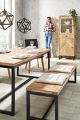 Stuhl aus Eiche - Eichefarben/Schwarz, MODERN, Holz/Textil (45/91/58,5cm) - Premium Living
