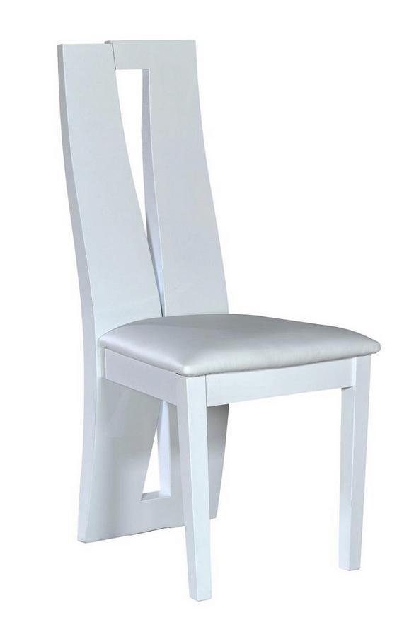 Stuhl Weiß Hochglanz - Weiß, LIFESTYLE, Holz/Holzwerkstoff (43/102/49cm) - Premium Living
