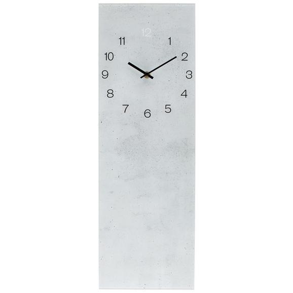 Wanduhr Glasart ca. 20x60cm - Weiß, Glas/Kunststoff (20/60cm) - Mömax modern living