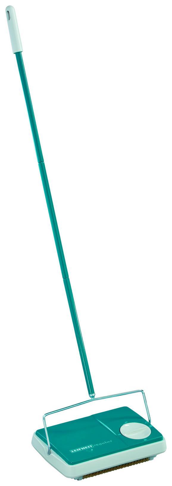 Seprű Leifheit Regulus Szőnyegseprű - zöld, műanyag/fém (6,5/23/28,5cm)