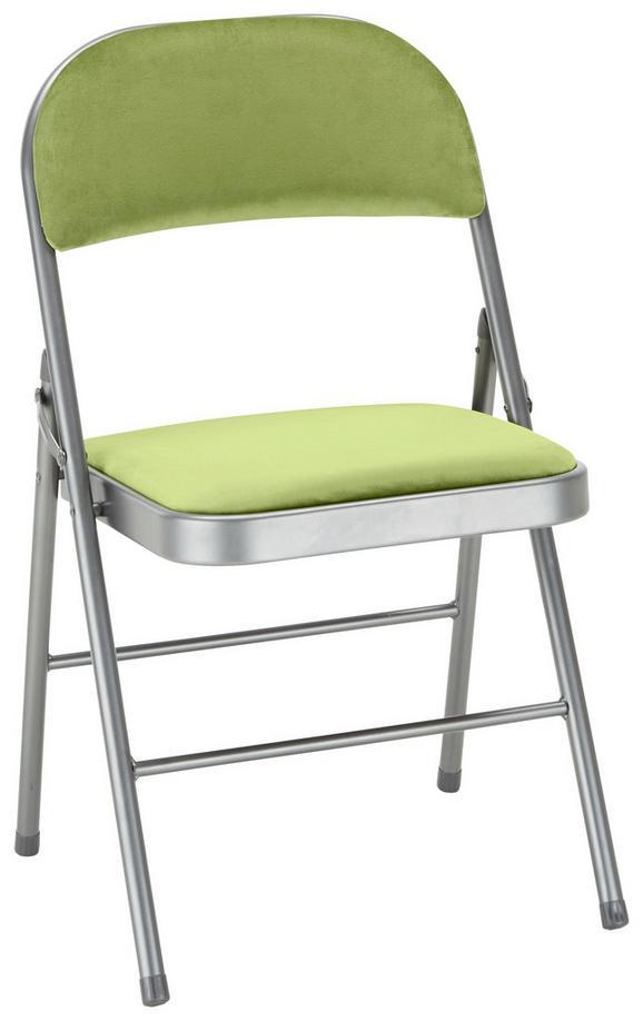 Zložljiv Stol Bastian -exklusiv/sb- - siva/zelena, Moderno, kovina/tekstil (46/78/46cm) - Mömax modern living