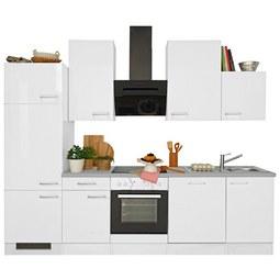 Küchenblock Neo Weiß/Betonoptik   Weiß, MODERN, Holzwerkstoff (220cm)