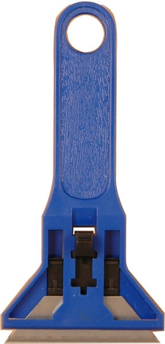 Schaber Josef in Blau - Blau/Silberfarben, Kunststoff/Metall (13cm)