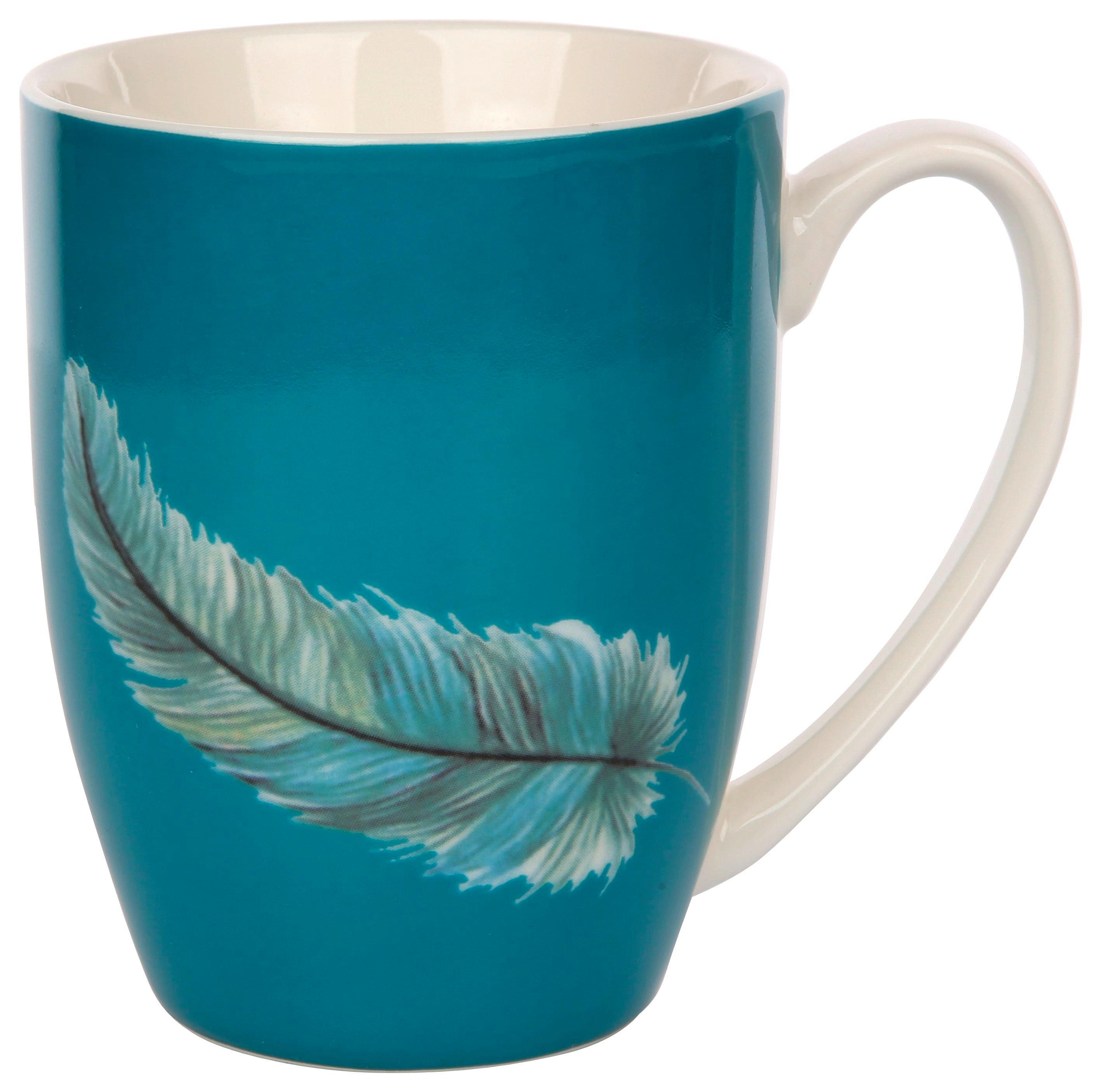 Skodelica Feather - večbarvno, keramika (0,3l)