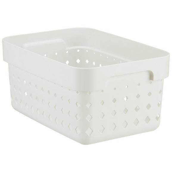 Korb Seoul aus Kunststoff in Weiß - Weiß, KONVENTIONELL, Kunststoff (26/18/12,6cm)