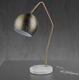 Tischleuchte Claudie - Weiß, MODERN, Metall (55cm) - Modern Living