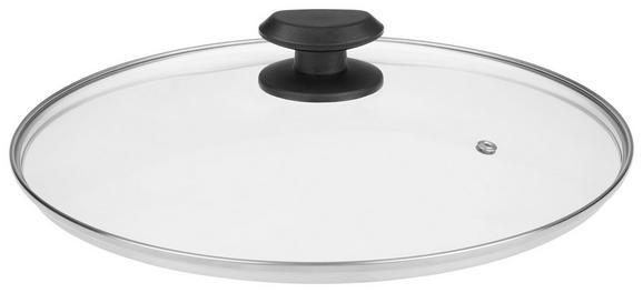 Deckel Gerry in Schwarz - Glas/Kunststoff (30cm) - Mömax modern living