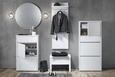 Garderobenpaneel in Weiß - Weiß, MODERN, Holzwerkstoff (48/140/33cm) - Mömax modern living