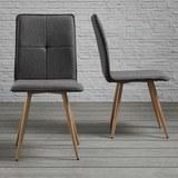 Stuhl Jay - Dunkelgrau, MODERN, Textil/Metall (48/91/44,5cm) - Modern Living