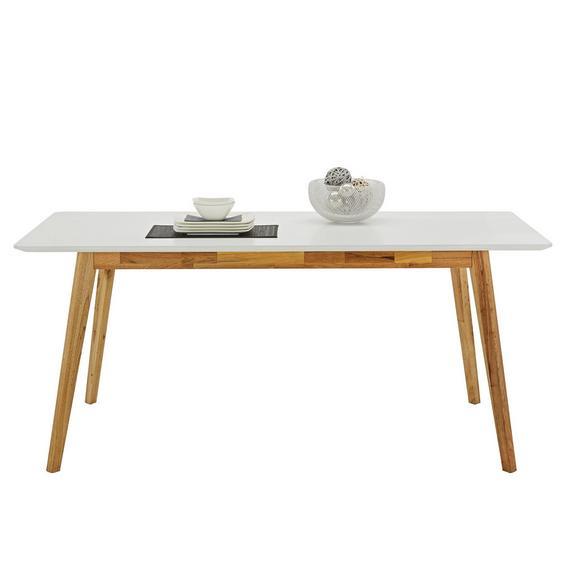 Jedilna Miza Durham Ca. 180x90 Cm - bela/hrast, Moderno, leseni material/les (180/76/90cm) - Mömax modern living