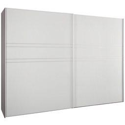 Schwebetürenschrank in Seidengrauglas - Hellgrau/Alufarben, KONVENTIONELL, Glas/Holzwerkstoff (306/222/68cm) - Premium Living