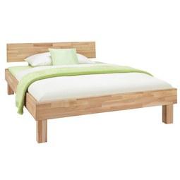Bett aus Massiv Holz ca. 140x200cm - Naturfarben, KONVENTIONELL, Holz (140/200cm) - Zandiara