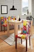 Stuhl In Patchwork/nuss - MODERN, Holz/Textil (45/90/50cm) - MODERN LIVING