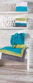 Handtuch Melanie in Petrol - Petrol, Textil (50/100cm) - MÖMAX modern living