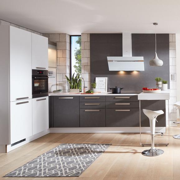 Eckküche Metal / Softlack - Weiß/Grau, MODERN, Holzwerkstoff (335/200cm) - Nolte Küchen