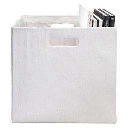 Aufbewahrungsbox Bobby - Weiß, MODERN, Textil (33/33/32cm) - Mömax modern living