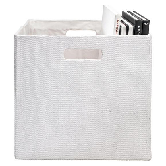 Faltbox Bobby in Weiß ca. 33x33x32cm - Weiß, MODERN, Papier/Kunststoff (33/33/32cm) - Mömax modern living