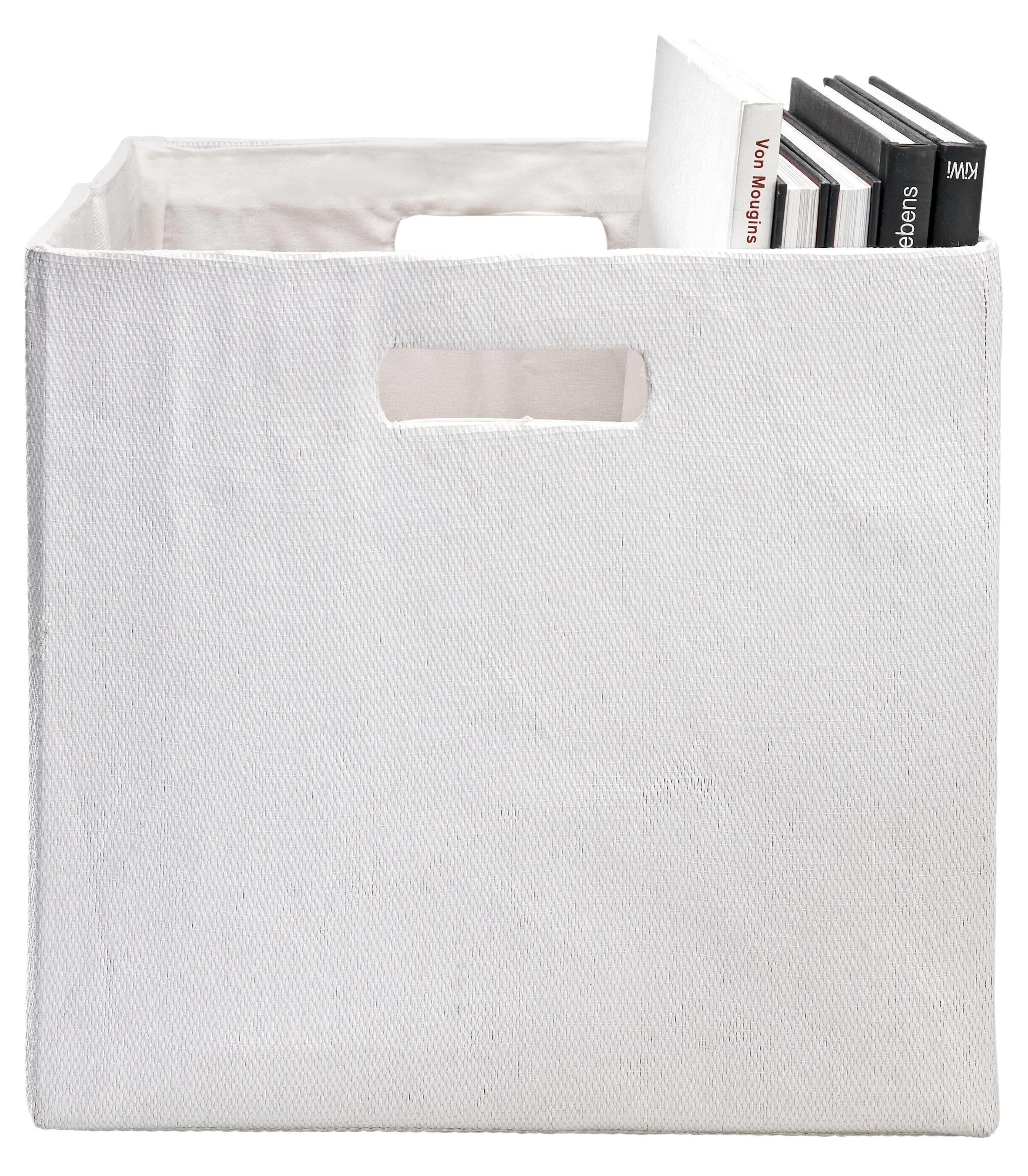 Tárolódoboz Bobby - fehér, modern, textil (33/33/32cm) - MÖMAX modern living