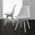 Stuhl in Weiß 'Vega' - Weiß, MODERN, Kunststoff (46/83/54cm) - Bessagi Home