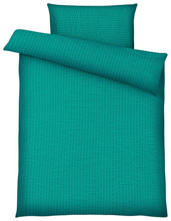 Bettwäsche Brigitte, ca. 135x200cm - Petrol, KONVENTIONELL, Textil - Mömax modern living