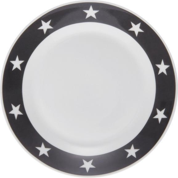 Dessertteller Star - Anthrazit/Weiß, MODERN, Keramik (20,32cm) - Mömax modern living