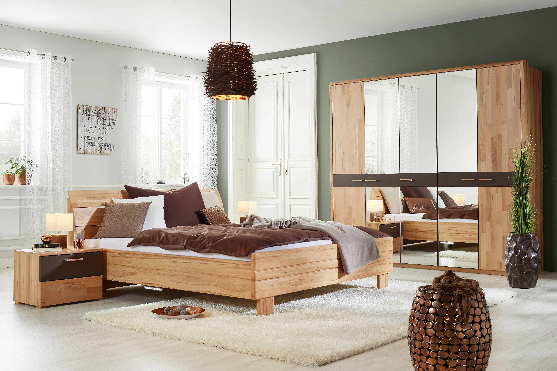Bett aus Buche, ca. 180x200cm - Naturfarben, MODERN, Holz/Holzwerkstoff (220/188/90cm) - ZANDIARA