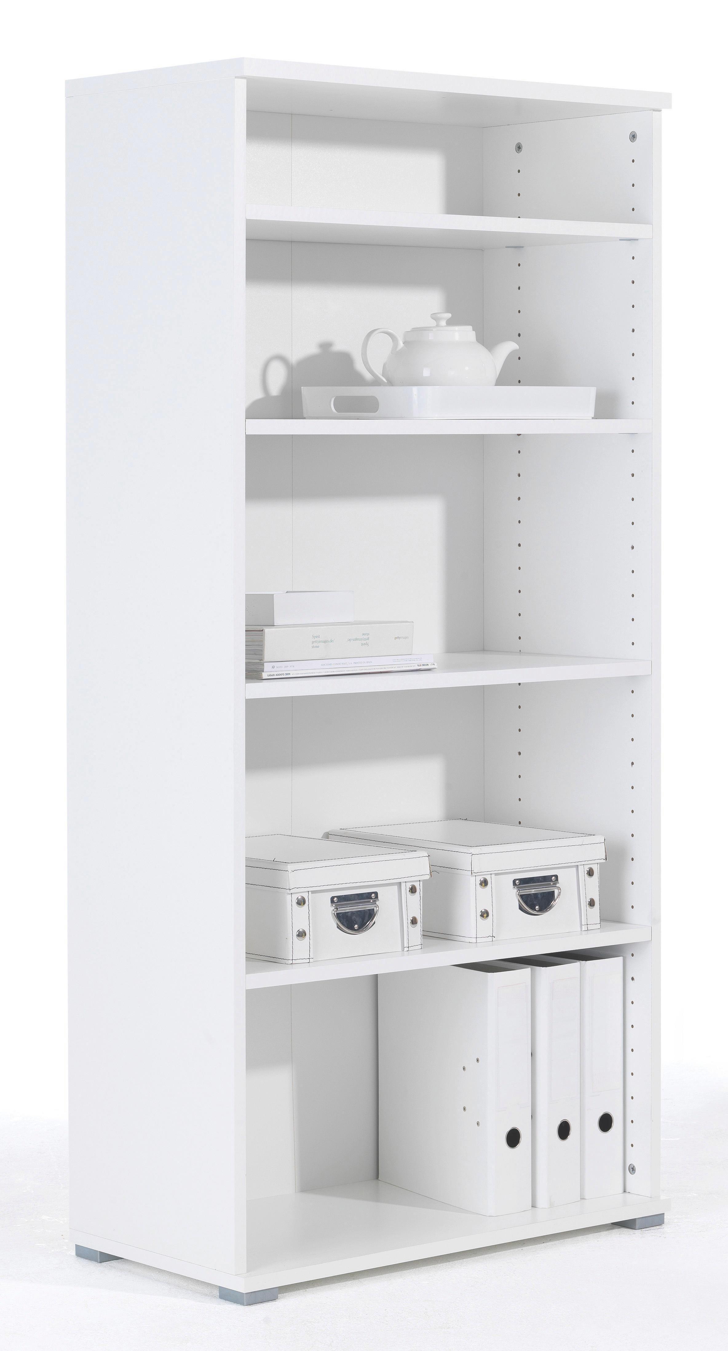 Regal in Weiß - Weiß, Holzwerkstoff (72/150/37cm) - MÖMAX modern living