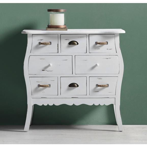 Kommode Lewis Vintage - Weiß, MODERN, Holz/Metall (84/81/34cm) - Modern Living