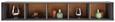 Wandboard in Anthrazit/Eiche - Anthrazit, MODERN, Holzwerkstoff (172/26/32cm) - PREMIUM LIVING