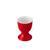 Eierbecher Sandy aus Keramik - Rot, KONVENTIONELL, Keramik (4,8/6,5cm) - Mömax modern living