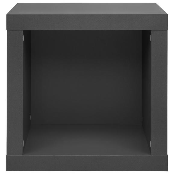 Beistelltisch in Grahpitfarben - Graphitfarben/Alufarben, MODERN, Holzwerkstoff/Kunststoff (44/44/35cm)