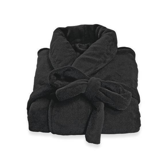 Halat De Baie Supersoft - negru, textil (S-XLnull) - Modern Living