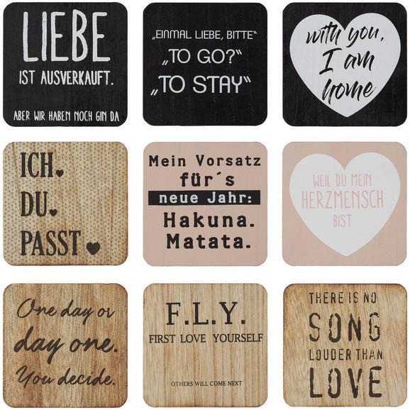 Holzbild Leonie verschiedene Designs - Hellrosa/Schwarz, Holz (10/10/2cm) - Mömax modern living