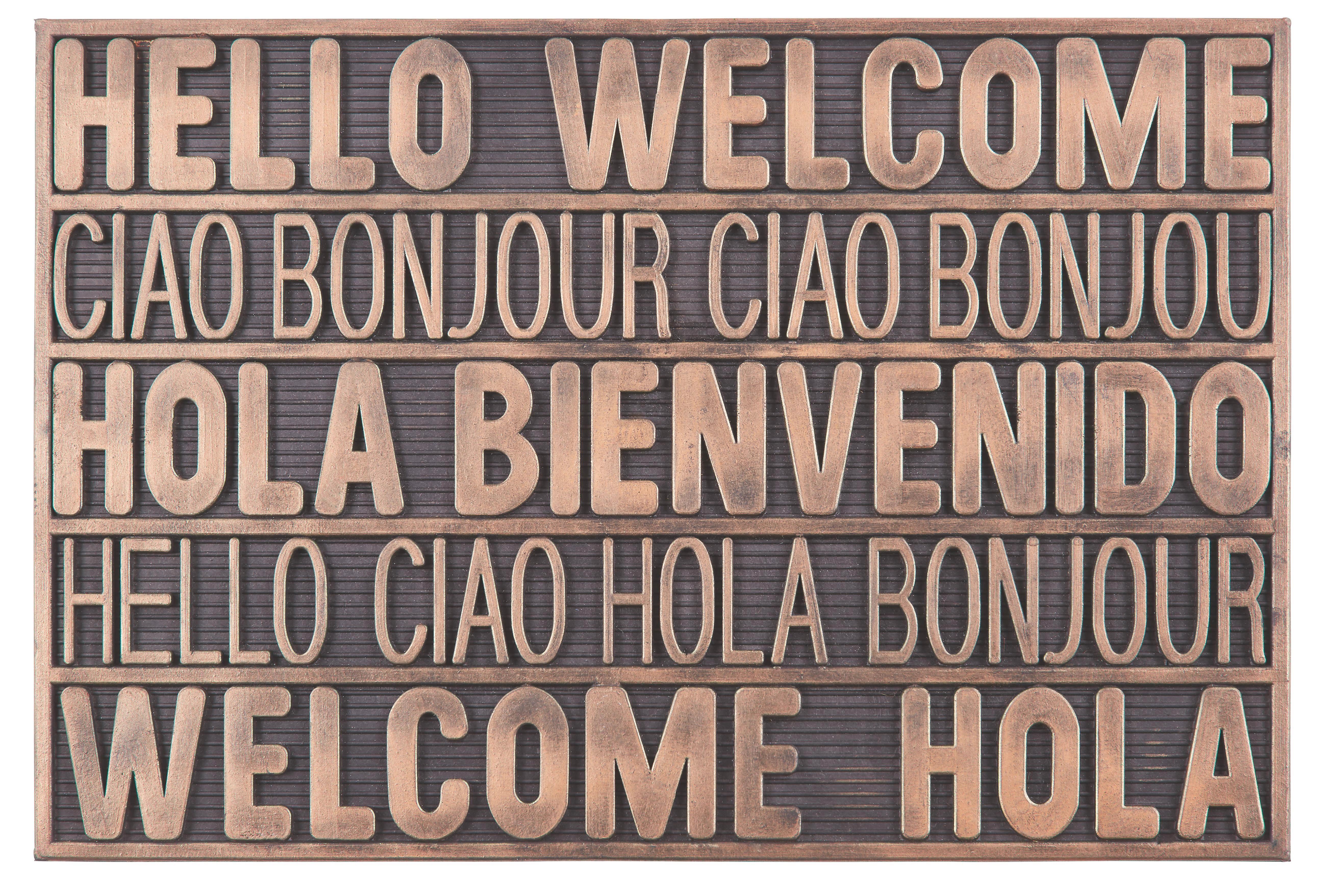 Lábtörlő International Welcome - réz színek, modern, műanyag (40/60cm) - MÖMAX modern living