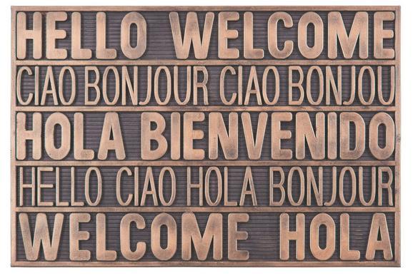 Lábtörlő International Welcome - Rézvörös, modern, Műanyag (40/60cm) - Mömax modern living