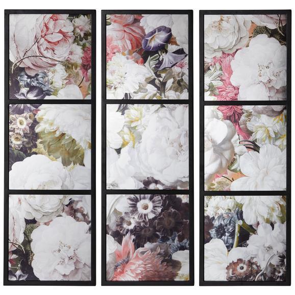 Bilderset Chloe Bunt, 3-teilig - Multicolor, ROMANTIK / LANDHAUS, Holzwerkstoff/Kunststoff (120/120/4cm) - Zandiara