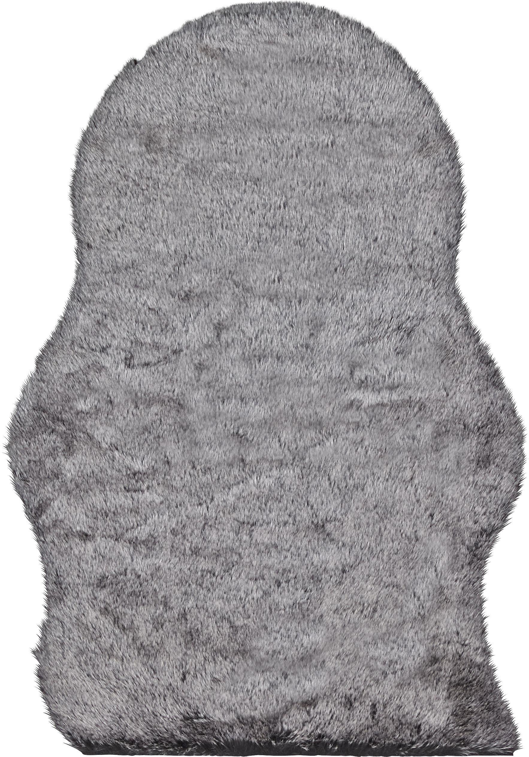 Kunstfell Annalena in Grau, ca. 60x90cm - Grau, ROMANTIK / LANDHAUS, Textil (60/90cm) - MÖMAX modern living