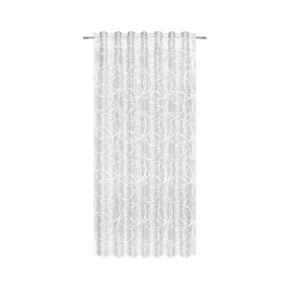 Schlaufenvorhang Marlene, ca. 140x245cm - Weiß, KONVENTIONELL, Textil (140/245cm) - Mömax modern living
