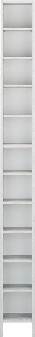 CD-Regal in Grau/Weiß - Weiß/Grau, Holz/Holzwerkstoff (19,5/185/16,5cm) - Mömax modern living