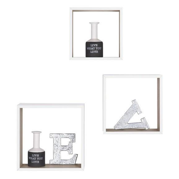 wandregal 3er set in wei sonoma eiche online kaufen m max. Black Bedroom Furniture Sets. Home Design Ideas