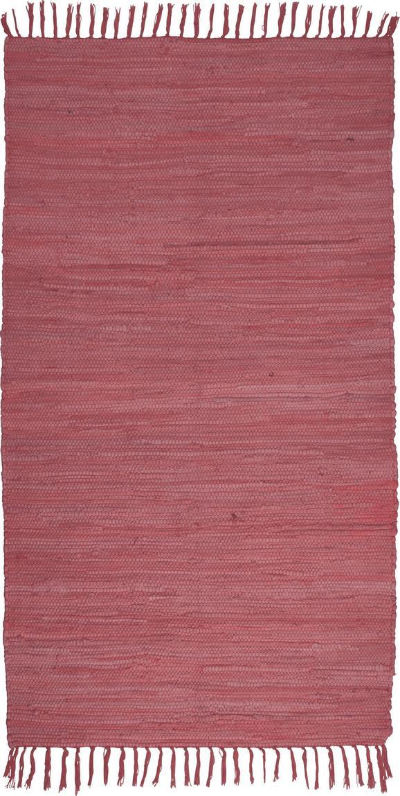 Fleckerlteppich Julia in Rot, ca. 70x130cm - Beere, Textil (70/130cm) - Mömax modern living