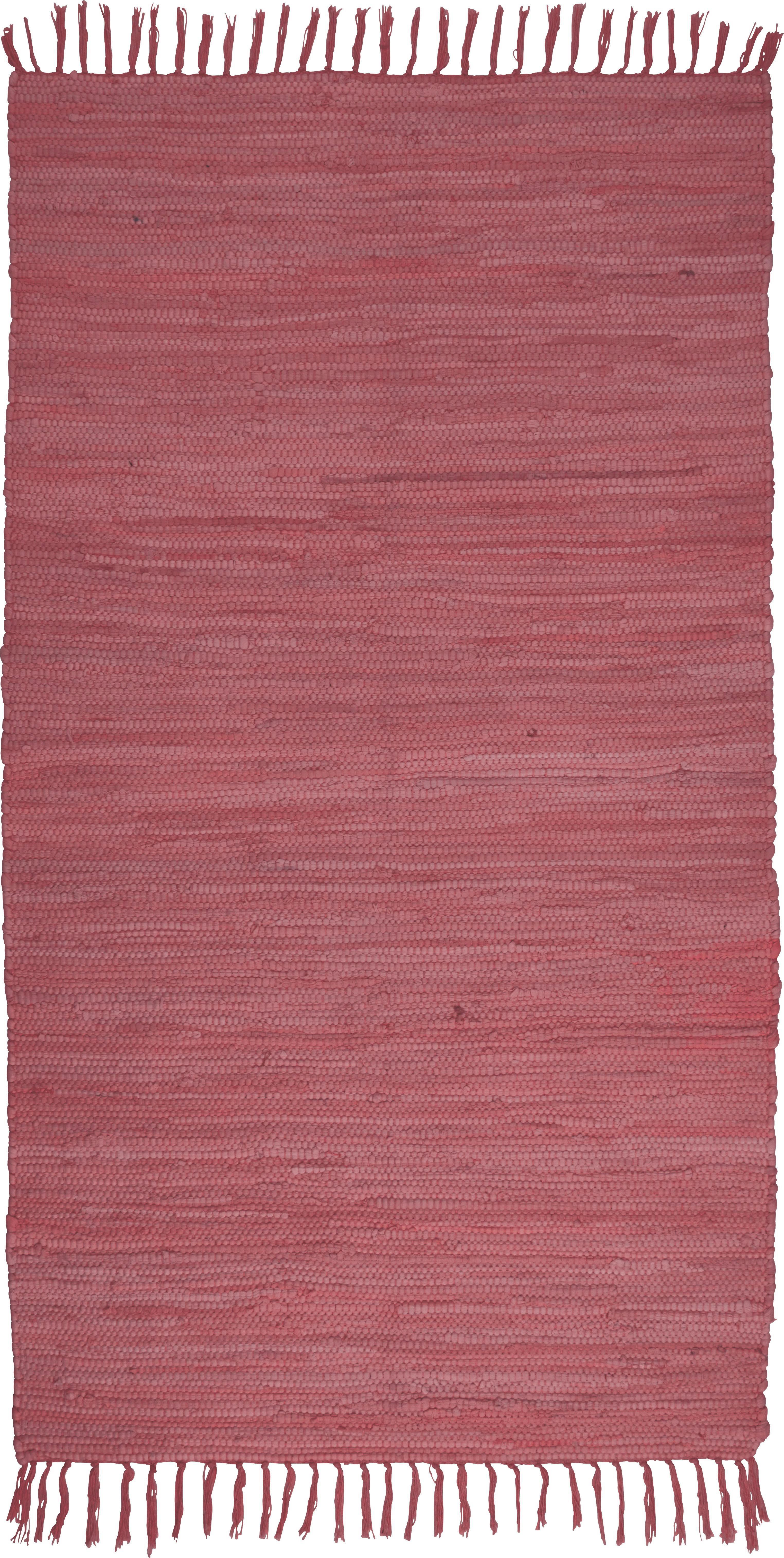 Fleckerlteppich Julia in Rot, ca. 70x130cm - Rot, Textil (70/130cm) - MÖMAX modern living