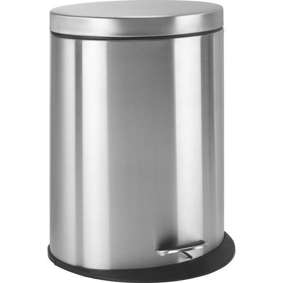 KOŠ ZA SMETI ZOE - črna/krom, Moderno, kovina/umetna masa (34/43,7/25cm) - Mömax modern living