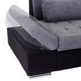 Canapea Modulară Santa Cruz - culoare stejar argintiu/grafit, Modern, plastic (300/190cm)